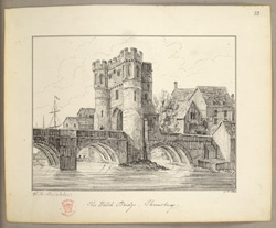 The Welsh Bridge, Shrewsbury, 1846